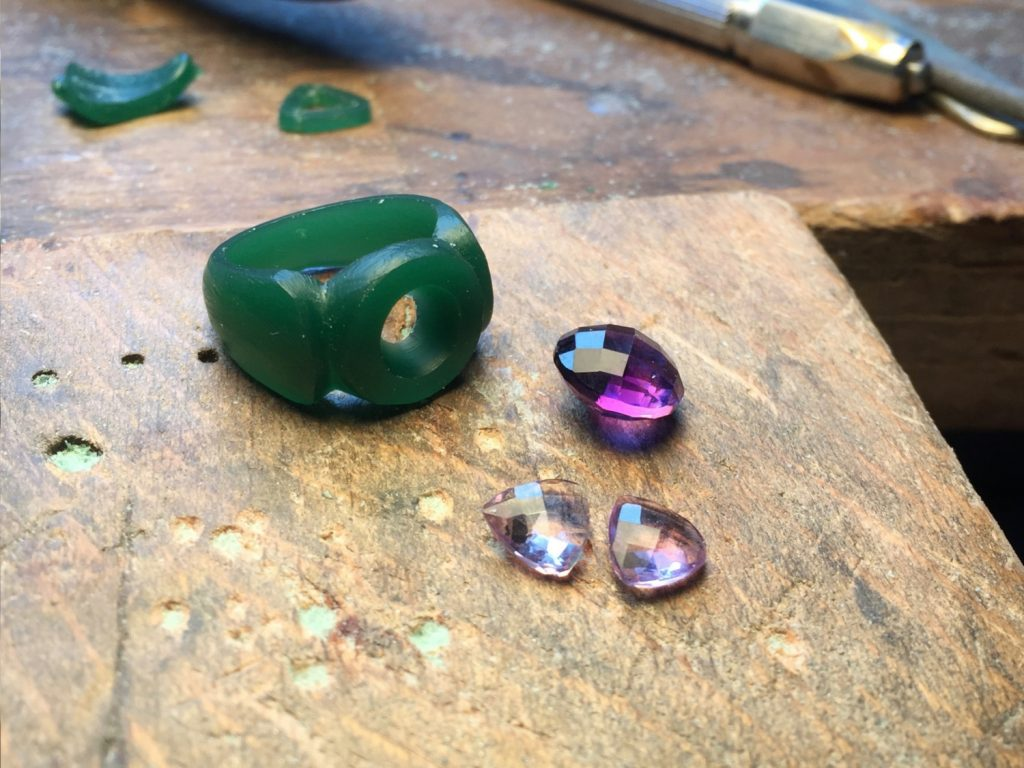 Amethyst Ring in progress