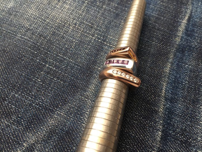 Channel set gold rings