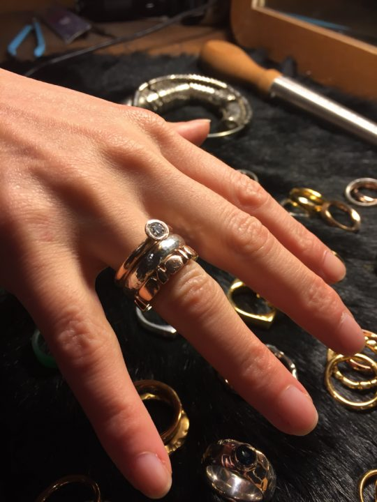 Tawny Phillips Gold Stacking Rings Commission