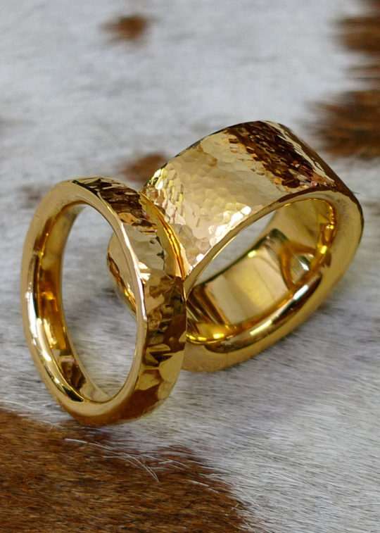 Tawny-Phillips-Hand-Hammered-Heavy-Gold-Wedding-Rings