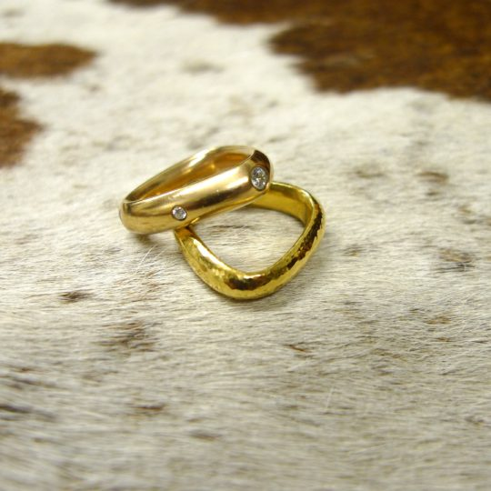 Tawny Phillips - Handmade Soft Triangle Wedding Rings