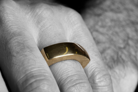 Tawny Phillips - Heavyweight Gold Men's Slab Ring