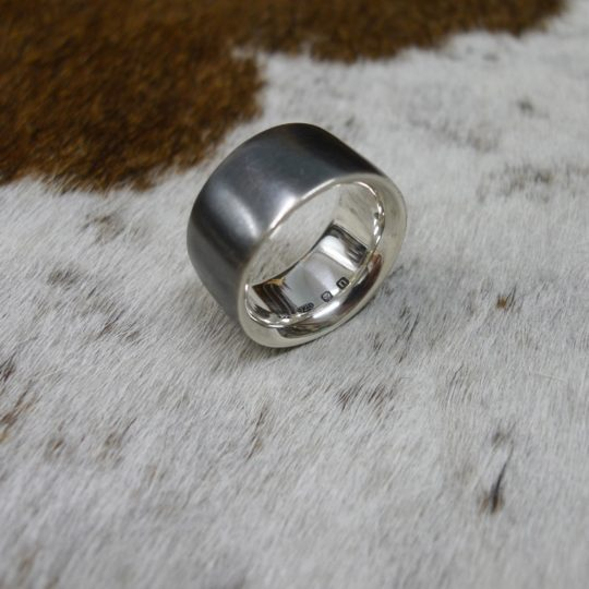 Tawny Phillips Heavyweight Oxidised Silver Comfort Fit Ring