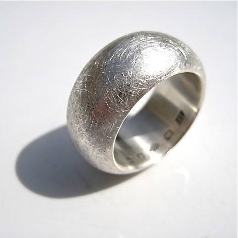 Tawny Phillips Heavyweight Scratched Silver Ring