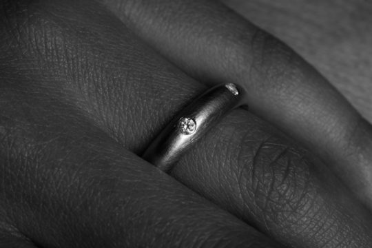 Tawny Phillips - Oval and Diamond Wedding Ring