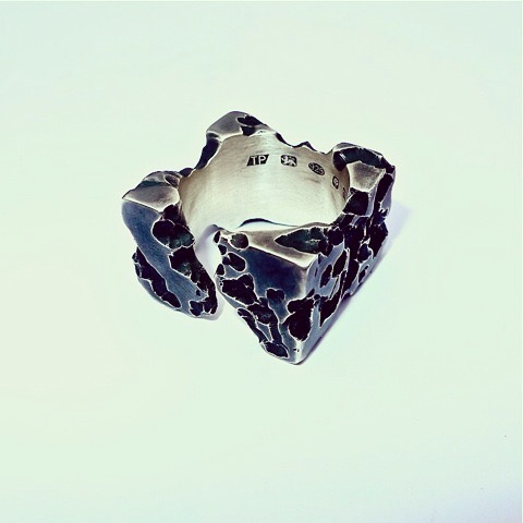 Tawny Phillips - Oxidised Silver Heavyweight Square Ring
