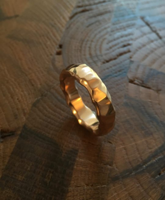 Tawny Phillips - Rose Gold Crumple Wedding Ring