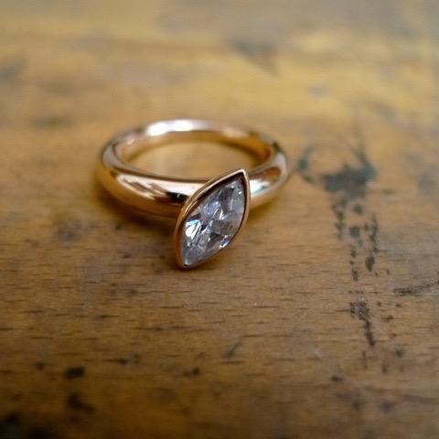 Tawny Phillips - Rose Gold Marquis Diamond Engagement Ring