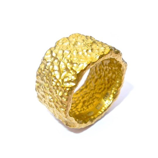 Tawny Phillips Rough Textured Gold Ring