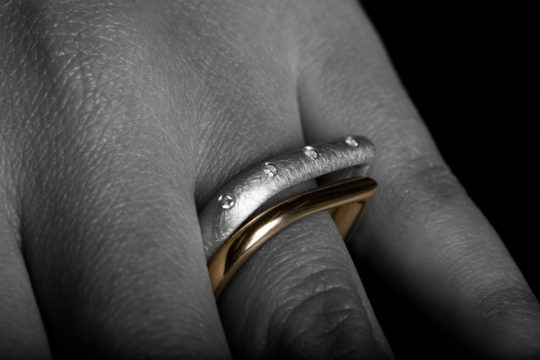 Tawny Phillips Teardrop Wedding Rings
