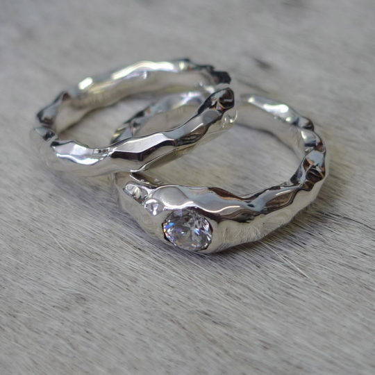 White Gold Diamond Wedding Rings by Tawny Phillips