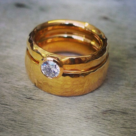 tawny-phillips-pair-of-gold-ripple-wedding-rings